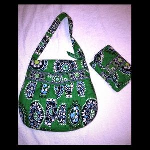 Authentic Vera Bradley purse and matching wallet